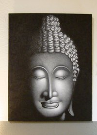 Buddha Painting Grey