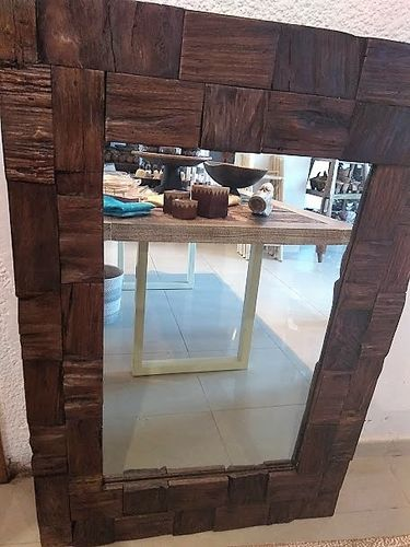 Reclaimed Teak Mirror