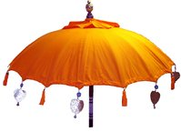 Orange Balinese Umbrella Ø 90 Folding Mast