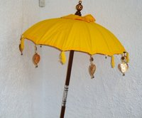 Yellow Balinese Umbrella Ø 90 Folding Mast