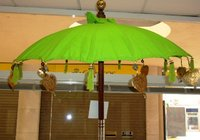 Green Balinese Umbrella Ø 90 Folding Mast