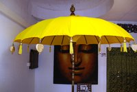 Yellow Balinese Umbrella Ø180 Folding Mast