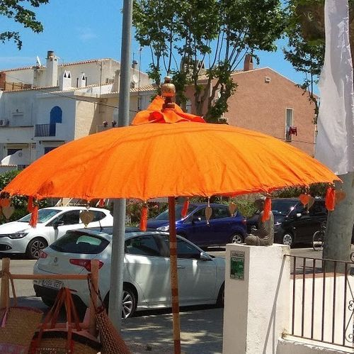 Orange Balinese Umbrella Ø180 Folding Mast