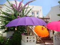 Purple Balinese Umbrella Ø180 Folding Mast
