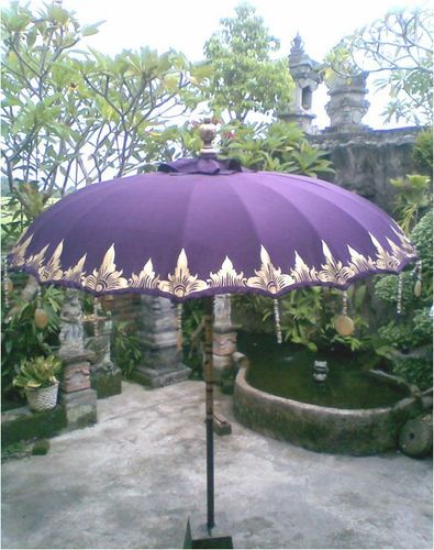 Purple De Luxe Balinese Umbrella