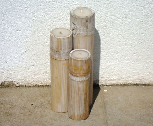 White Bamboo Set Candle