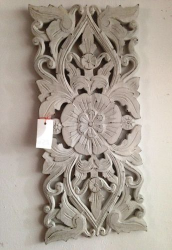 White handcarved Panel