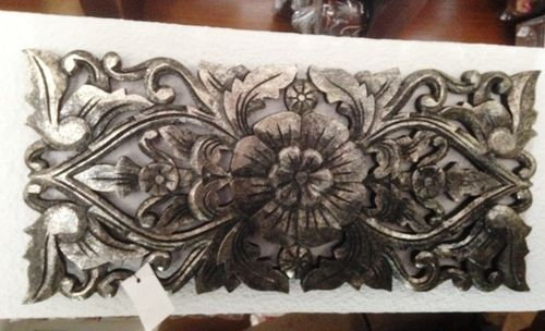 Silver Handcarved Panel