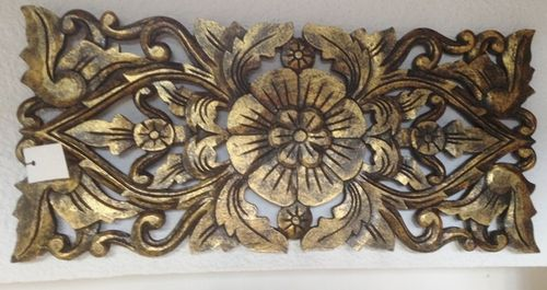 Gold Handcarved Panel