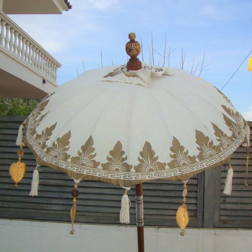 Cream Gold Balinese Umbrella Ø 90 Folding Mast