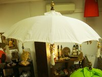 Cream Balinese Umbrella Ø 130 Folding Mast