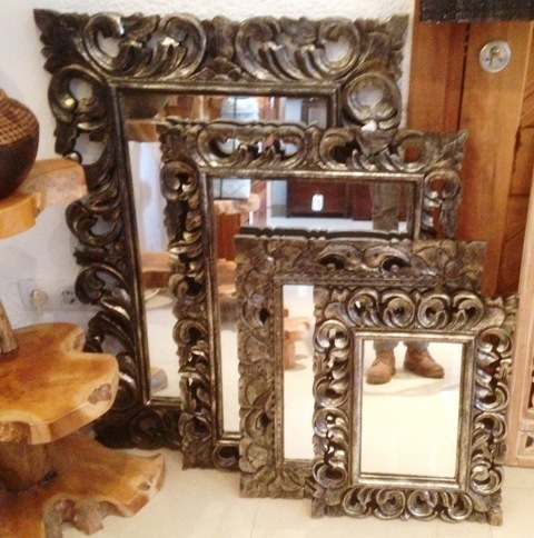 Silver Large Mirror