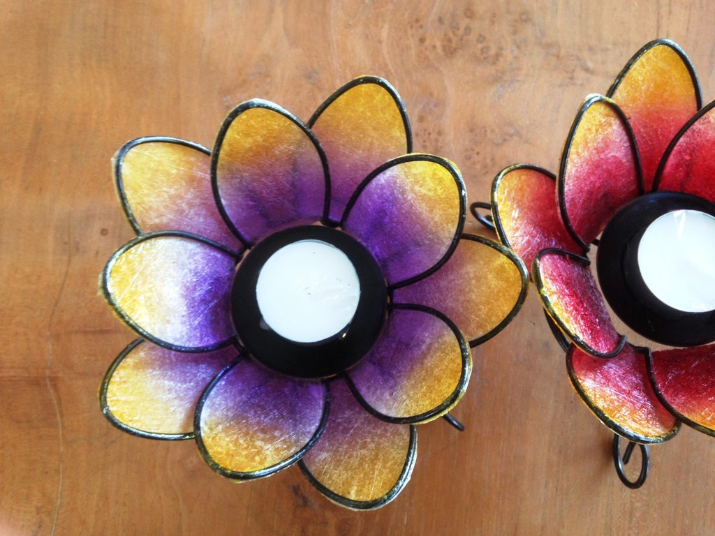 S Lotus Flower Candle Holder Balidekor