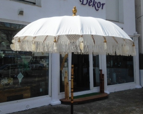 Cream De Luxe Balinese Umbrella
