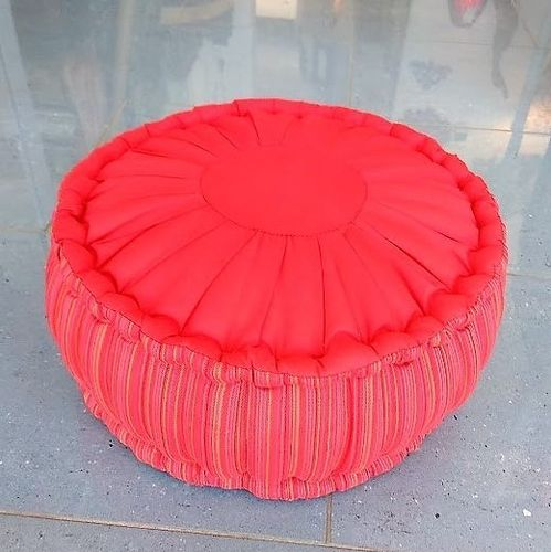Round  Red Meditation Cushion