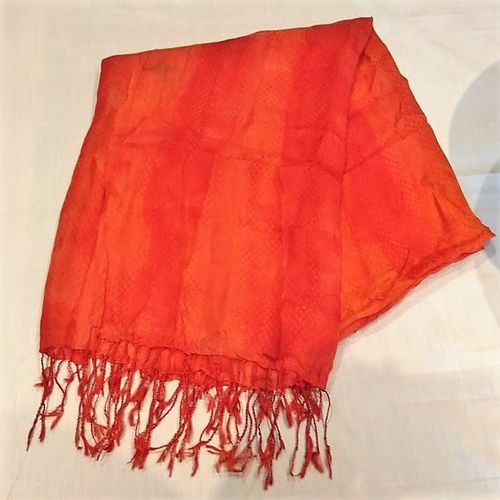 Orange Silk Sarong