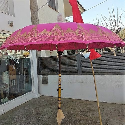 Pink Gold De Luxe Balinese Umbrella