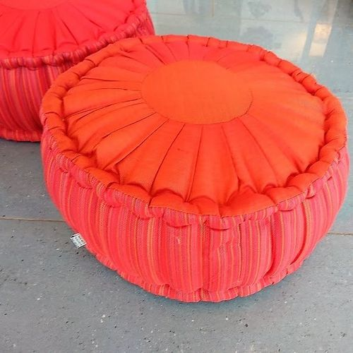 Round  Orange Meditation Cushion