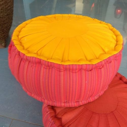 Round Yellow Meditation Cushion