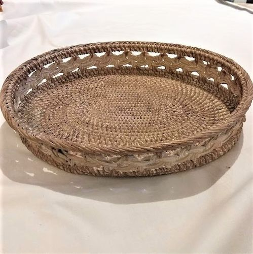 Braided Rattan Tray