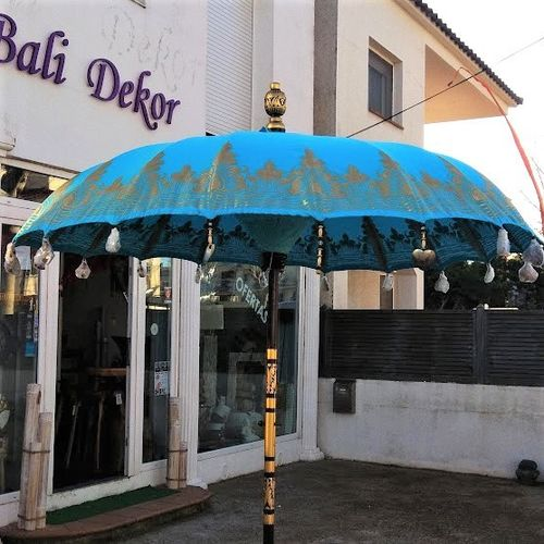 Blue De Luxe Balinese Umbrella