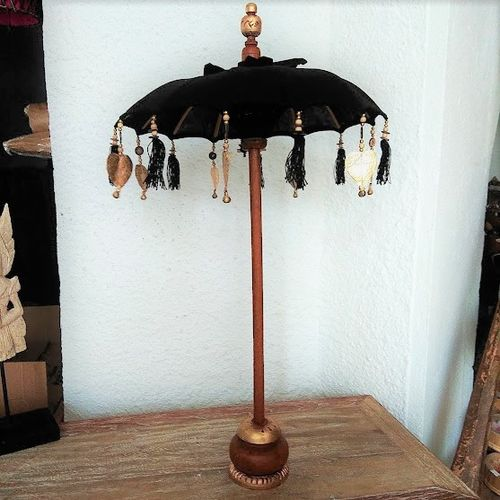 Black Table Balinese Umbrella
