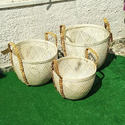 Bamboo Basket with Handle