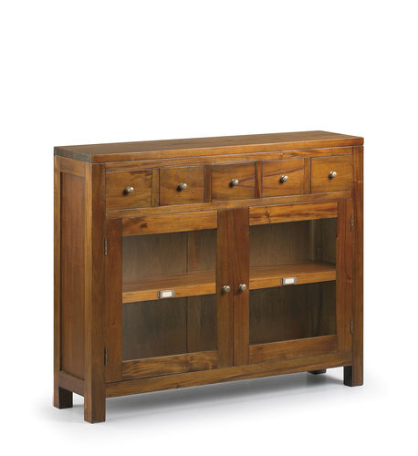 5 Drawers 2 Doors Console