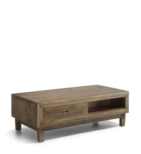 2 Drawers 2 Holes Coffee Table