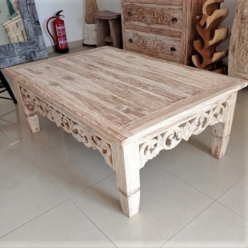 Recycled Carved Teak Table
